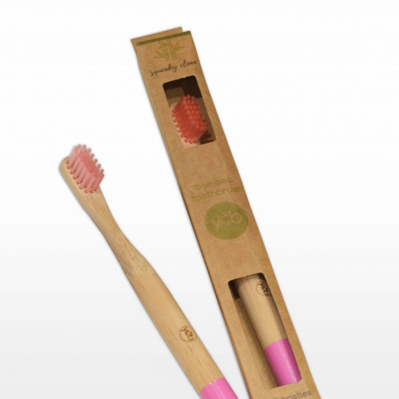 Bamboo Kids Toothbrush Pink